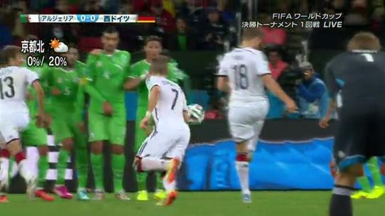 そして後ろの18番の選手が蹴る