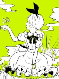 ありすちゃん落書き 黄緑