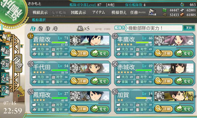 我が機動部隊の実力、見せてあげましょう。