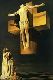 ダリ「キリスト磔刑図(肉体のハイパーキューブ ) 」