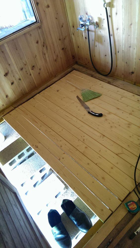 樽風呂 改修工事