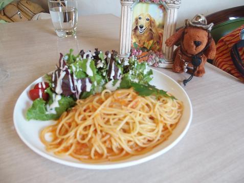 カニのトマトソースパスタ
