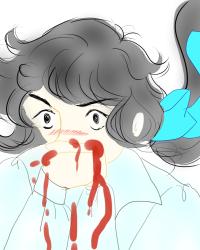 鼻血がでちゃう
