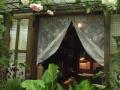 書斎と菜園とバラ