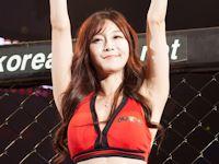 韓国の美人ラウンドガール