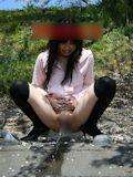 パイパン美乳女性 野外露出ヌード画像 4