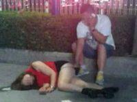 中国で酔って寝てる女性に痴漢してる男の写真がネットにアップされる