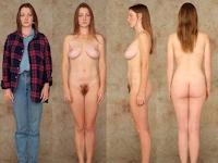 世界の女性の着衣時とヌードの比較画像