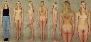 世界の女性の着衣時とヌードボディ比較画像 1