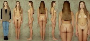 世界の女性の着衣時とヌードボディ比較画像 5