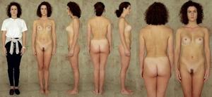 世界の女性の着衣時とヌードボディ比較画像 7