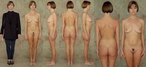 世界の女性の着衣時とヌードボディ比較画像 9