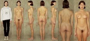 世界の女性の着衣時とヌードボディ比較画像 11