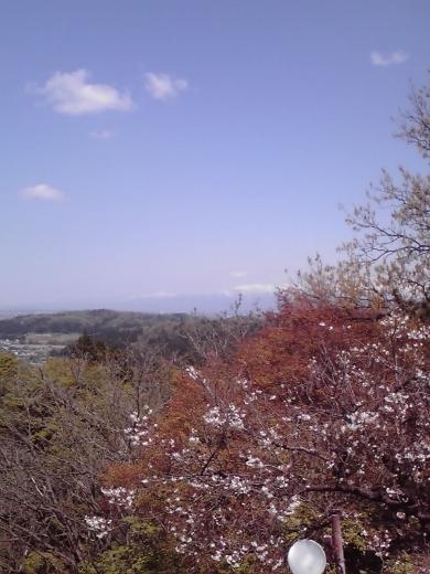 立山連峰を垣間見て3