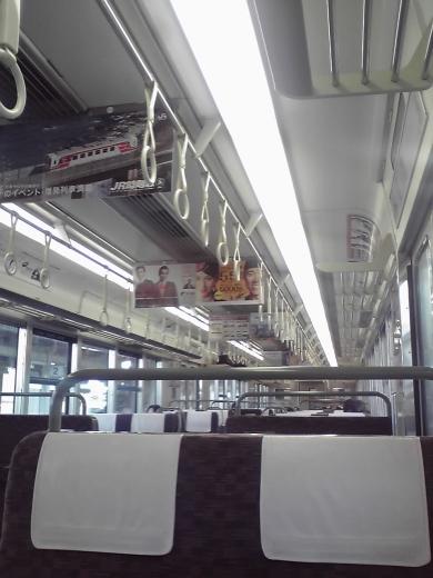 琵琶湖線車内