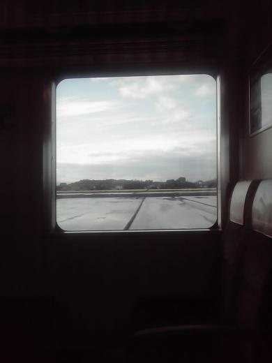 窓外に広がる近江平野