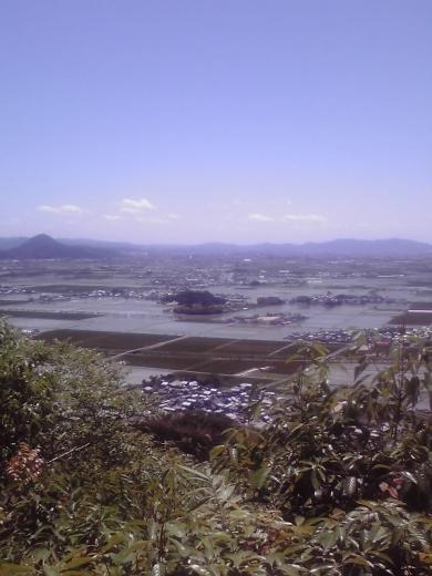湖東平野の眺め