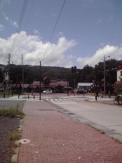 飯山駅と駅前広場
