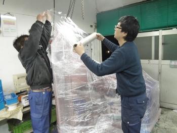 自動車向け金属部品用パーツフィーダーの輸送 [梱包編]