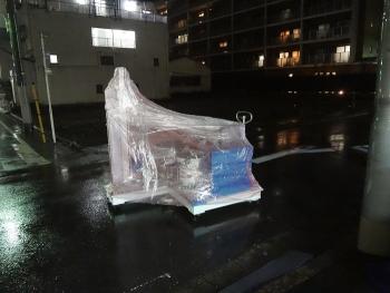 自動車向け金属部品用パーツフィーダーの輸送 [積込編]