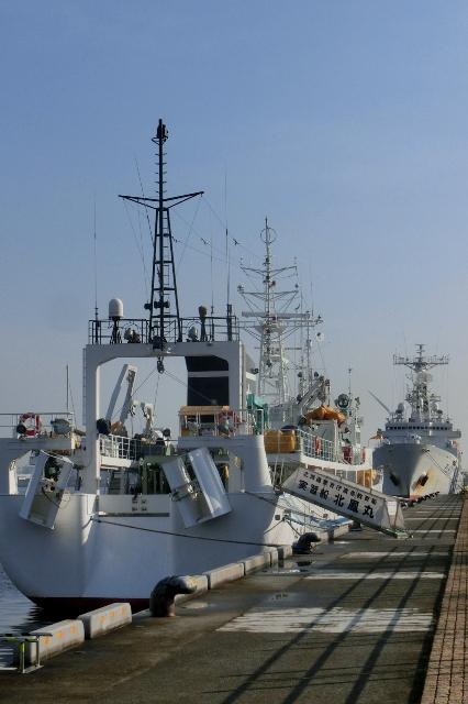 北鳳丸と巡視船しきしま