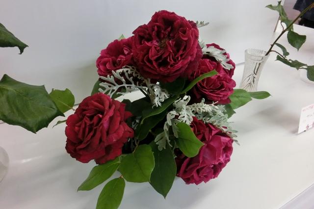 芳醇な真っ赤なバラ