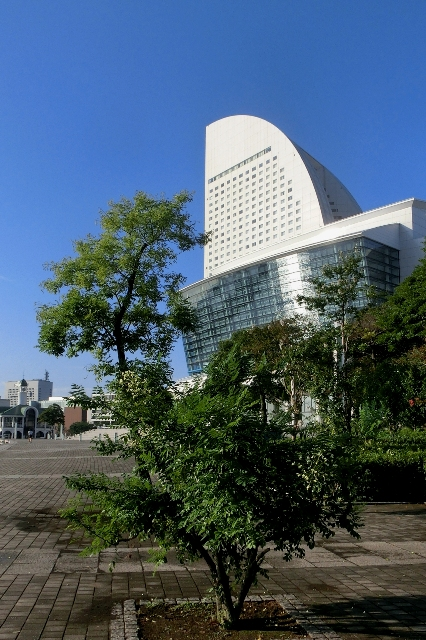 秋晴れの横浜グランドインターコンチネンタルホテル