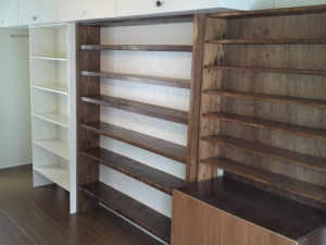 CD棚と本棚と洋服棚