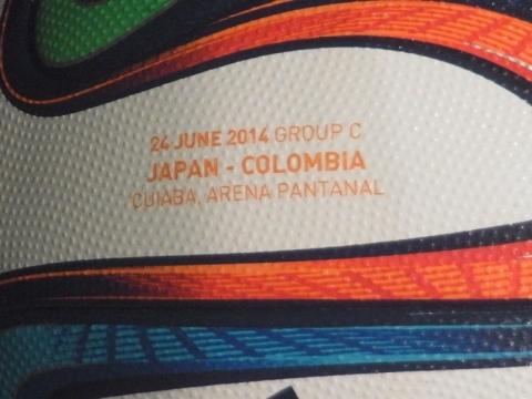 FIFAワールドカップで実際に使われたボールに会いました