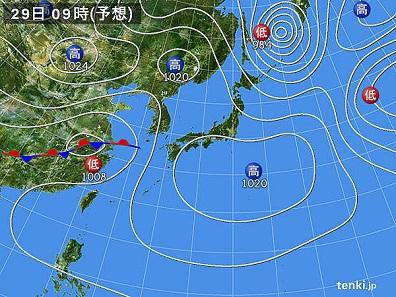 天気図29日