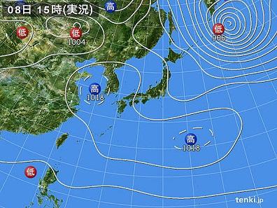 8日天気図