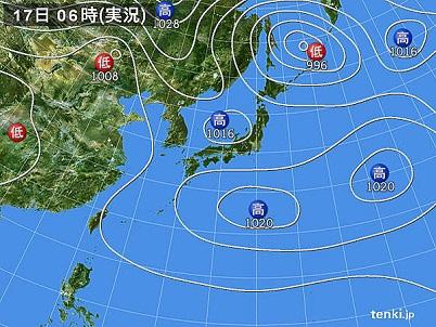 17日天気図