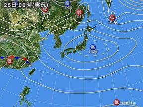25日天気図