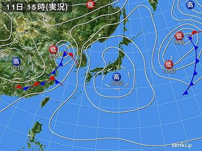 11日天気図
