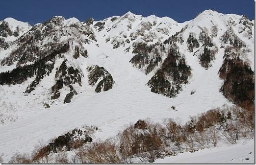 3岳沢スキールート