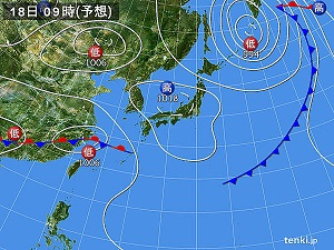 18日天気図