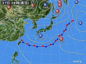 31日天気図