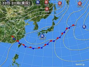 30日天気図