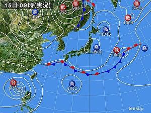 天気図15日