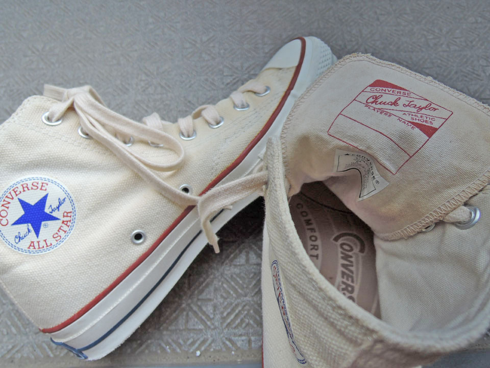"CONVERSE ADDICT ""CHUCK TAYLOR CANVAS HI NATURAL"" perfect day"