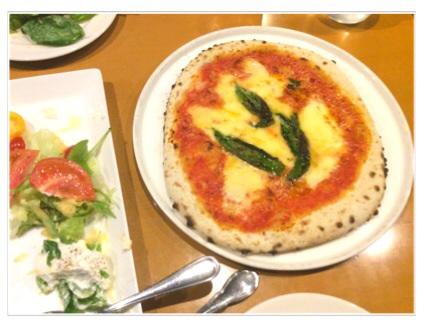 マルガリータ・トマトとリコッタチーズのサラダの食べかけ