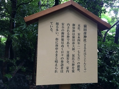 猿田彦神社案内板
