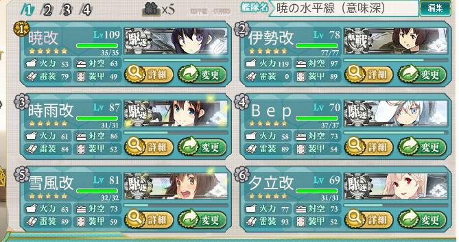 E-4クリア編成