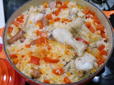 140804子供も食べれるシンプルジャンバラヤ (8)