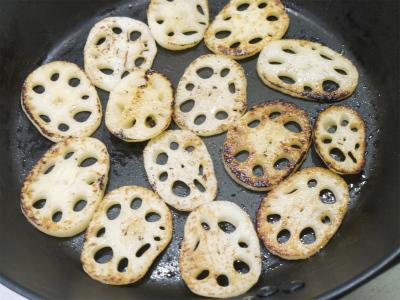 140816シャキシャキレンコンのバター焼き (1)
