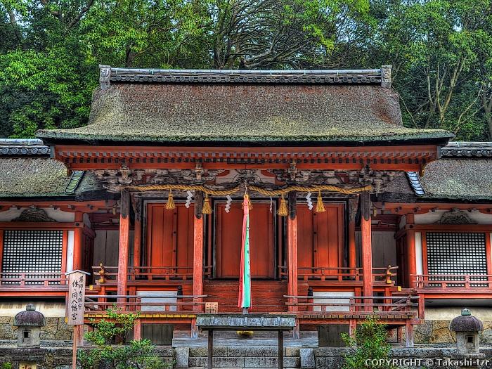 薬師寺休岡八幡神社社殿