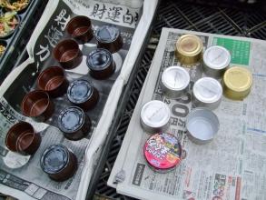 猫の餌缶がたくさんあるのでこっそりリメ缶チャレンジ中~♪2014.02.20