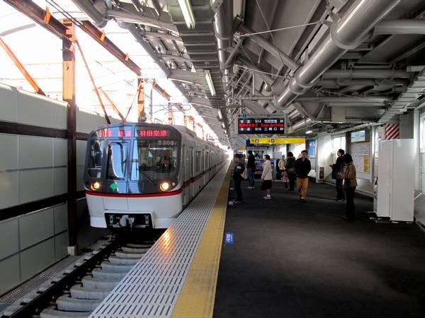 京成曳舟駅新上り線ホーム