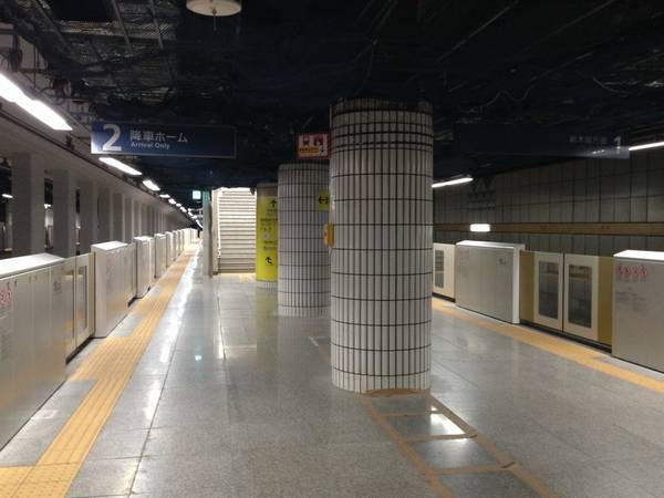 豊洲駅では2013年末までにホームドアが設置された。