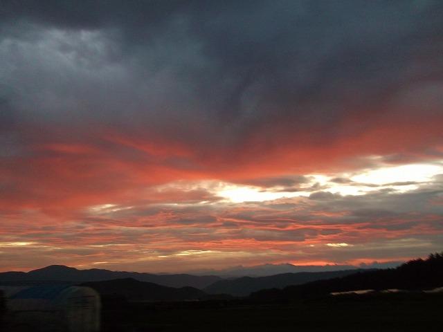 20140821見事な夕陽 (4)